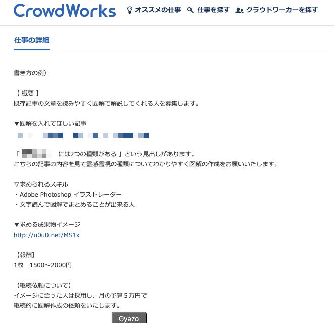 クラウドワークスでオープンコンペ