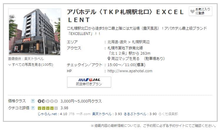 アパホテル札幌北口